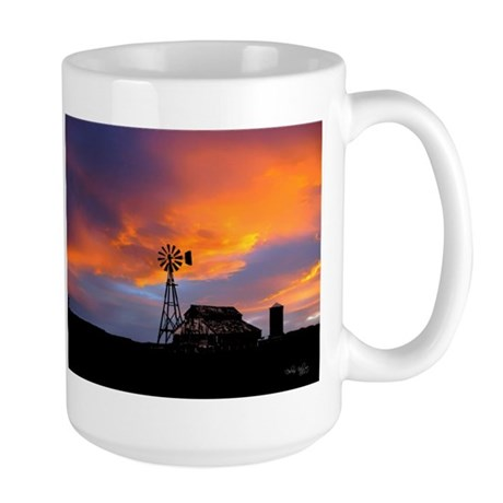 Sunset on the Farm Large Mug