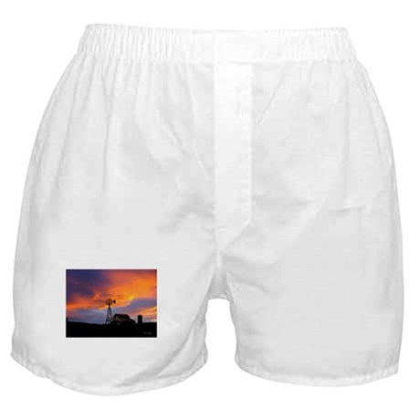 Sunset on the Farm Boxer Shorts