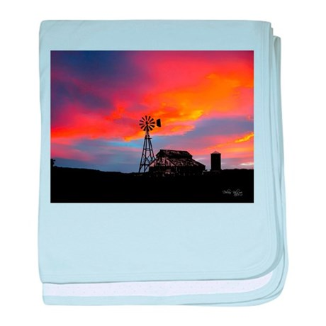 Sunset on the Farm baby blanket