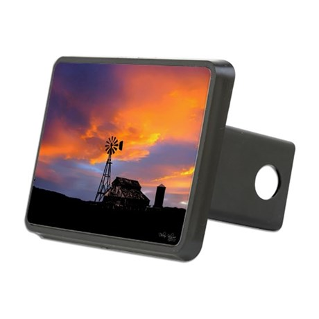 Sunset on the Farm Rectangular Hitch Cover