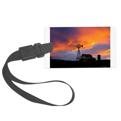 Sunset on the Farm Large Luggage Tag