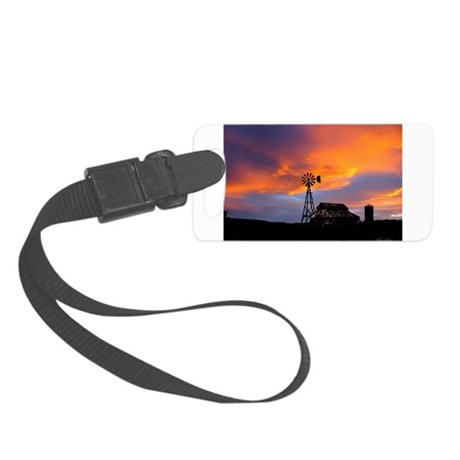 Sunset on the Farm Small Luggage Tag