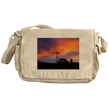Sunset on the Farm Messenger Bag