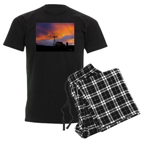 Sunset on the Farm Men's Dark Pajamas