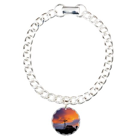 Sunset on the Farm Charm Bracelet, One Charm