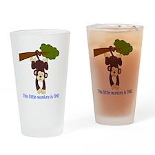 First Birthday Monkey Drinking Glass