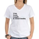 good books Women's V-Neck T-Shirt
