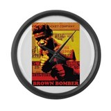 Joe Louis - Brown Bomber Large Wall Clock
