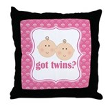 Twin Girls Baby Keepsake Throw Pillow