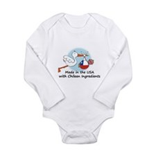 Cute Chilean girl Long Sleeve Infant Bodysuit