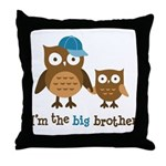 Big Brother - Mod Owl Throw Pillow