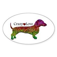Dachshund - Crazy Love Decal