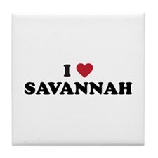 I Love Savannah Georgia Tile Coaster