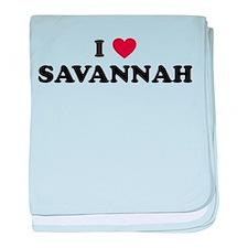 I Love Savannah Georgia baby blanket