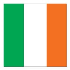 "Ireland Flag Square Car Magnet 3"" x 3"""