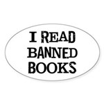 I Read Books Sticker (Oval)
