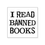 I Read Books Square Sticker 3