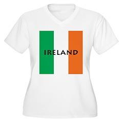 Ireland Women's Plus Size V-Neck T-Shirt