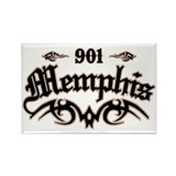 Memphis 901 Rectangle Magnet