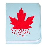 Red Maple Leaf baby blanket
