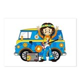 Hippie Boy and Camper Van Postcards (Package of 8)