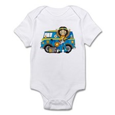 Hippie Boy and Camper Van Onesie