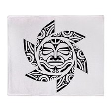 Maori Sun Throw Blanket