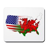 American Welsh Map Mousepad