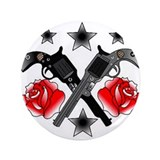 Roses Guns 3.5&quot; Button (100 pack)