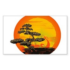 Sunset Bonsai Decal