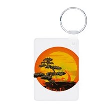 Sunset Bonsai Keychains