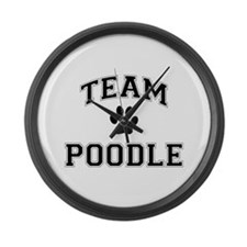 Team Poodle Large Wall Clock