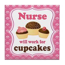 Nurse Gift Cupcakes Tile Coaster