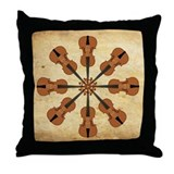 Circle of Violins Throw Pillow