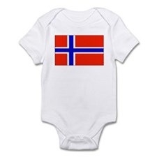 Norway Norwegian Blank Flag Infant Creeper