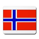 Norway Norwegian Blank Flag Mousepad