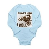 Funny Motocross Long Sleeve Infant Bodysuit