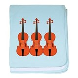 Three Violins baby blanket