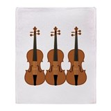 Three Violins Throw Blanket