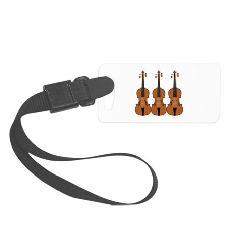 Three Violins Small Luggage Tag
