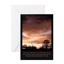 World belongs to you Greeting Card