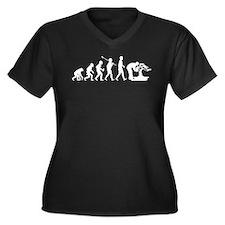 Bonsai Lover Women's Plus Size V-Neck Dark T-Shirt