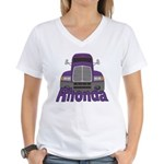 Trucker Rhonda Women's V-Neck T-Shirt