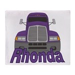 Trucker Rhonda Throw Blanket