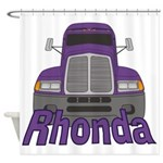 Trucker Rhonda Shower Curtain
