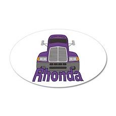 Trucker Rhonda 35x21 Oval Wall Decal