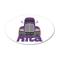 Trucker Rita 35x21 Oval Wall Decal