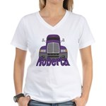 Trucker Roberta Women's V-Neck T-Shirt