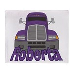 Trucker Roberta Throw Blanket