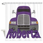 Trucker Roberta Shower Curtain